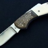 F32 - Damascus and Ivory Folder $750.00