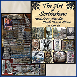 The Art of Scrimshaw with Scrimshander Linda Karst Stone 2 Disc Set
